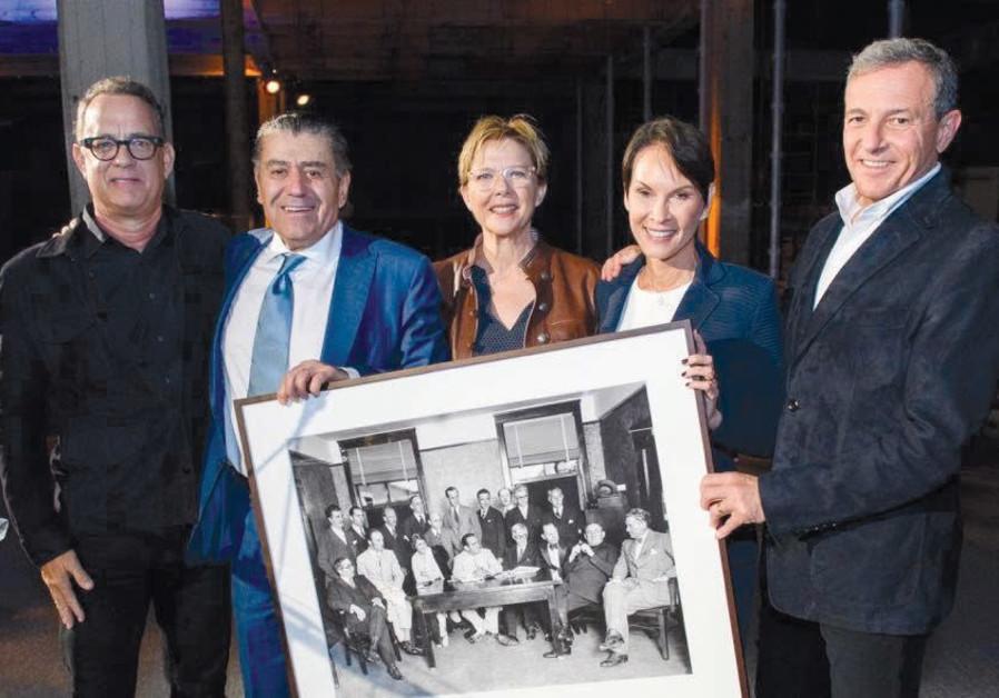 Tom Hanks, Haim Saban, Annette Bening, Cheryl Saban and Bob Eiger.