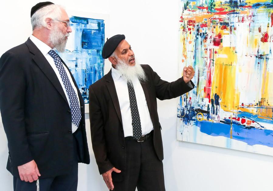 Digging deep: Artist Binyamin Basteker (right) with Rosenbach Contemporary Gallery owner Uri Rosenba