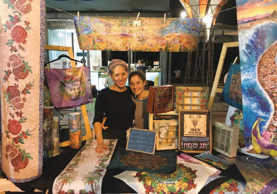 IBEX Art's Yael Harris Resnick and her daughter at the SheSparks Festival.