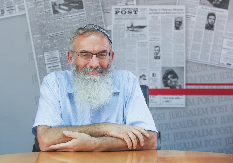 RABBI DAVID STAV visits 'The Jerusalem Post' this week.