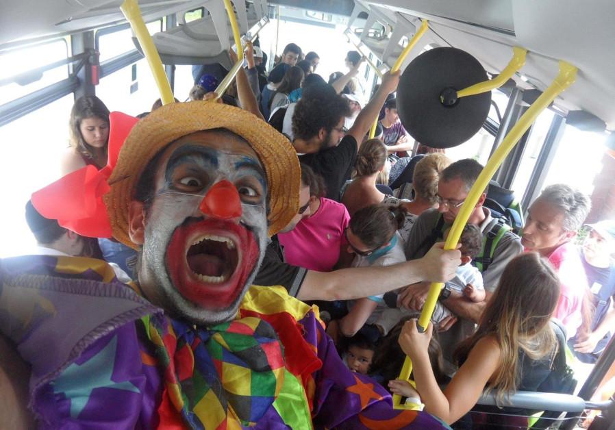 Raphael Hayoun, a professional clown