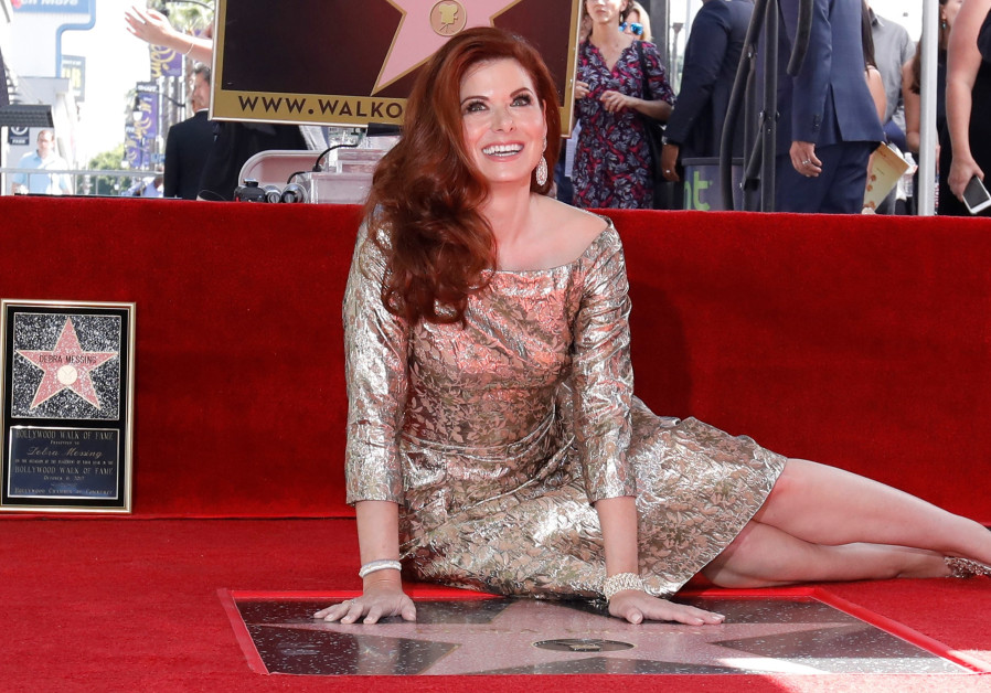 Debra Messing receiving her Hollywood Star of Fame, October 2017