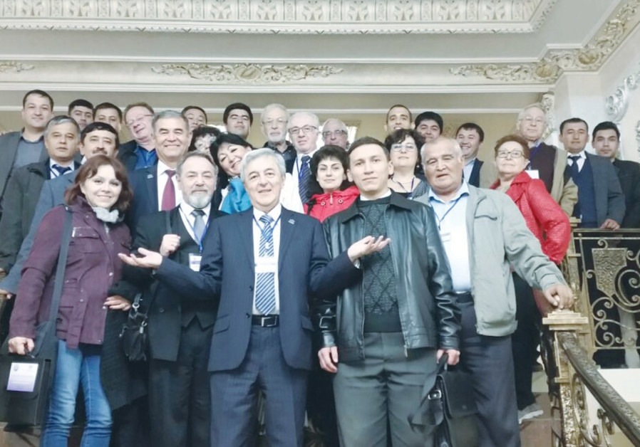 Participants in the Scientific Conference at the National University of Uzbekistan pose with Holon I