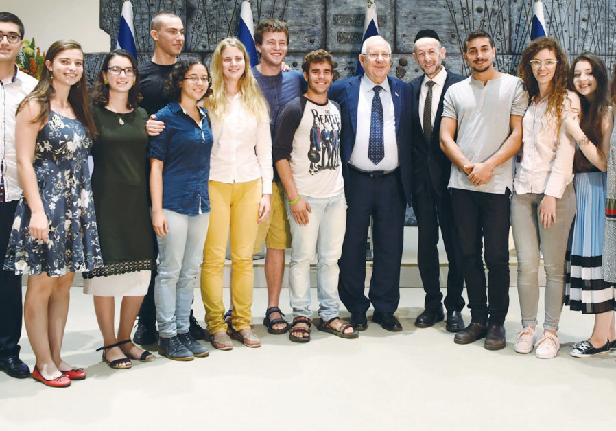President Rivlin helps competition for budding scientists mark 20 years