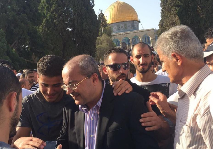 MK Ahmed Tibi during a visit to the Temple Mount in July
