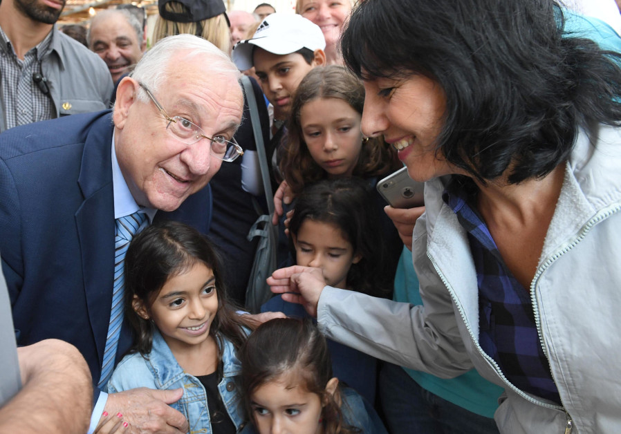 It rained on Rivlin's sukka, but didn't wash it out