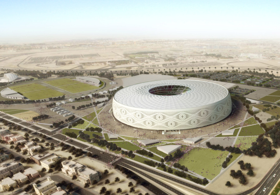 """Doha's Al Thumama stadium, designed by a Qatari architect in the shape of a traditional knitted """"gah"""