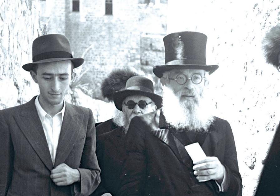RABBI ISAAC Halevi Herzog on a visit to Jerusalem's Old City in 1945.