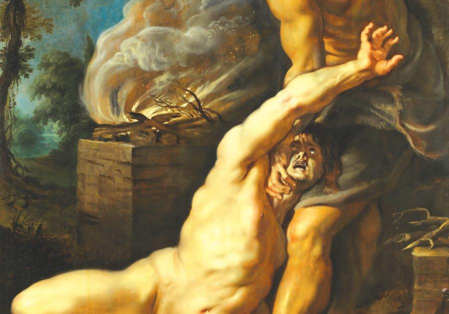 'CAIN SLAYING ABEL' (c. 1608) by Flemish painter Peter Paul Rubens.