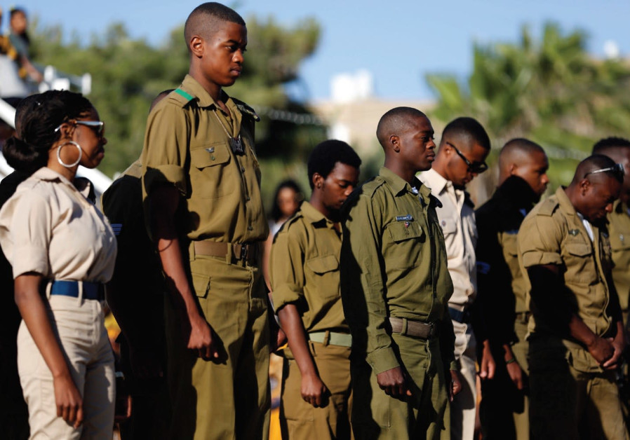 Soldiers from the African Hebrew Israelite community