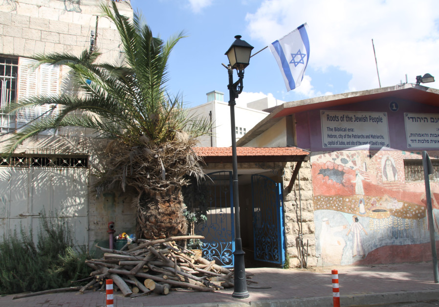 The site of the planned Jewish apartment complex in Hebron, October 2017