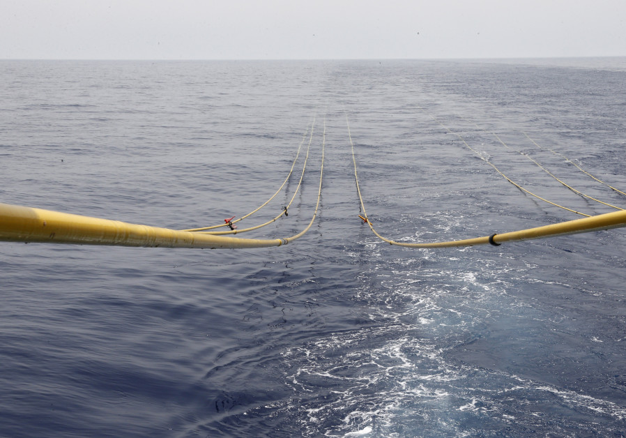 Cables descend into Lebanese waters for gas exploration