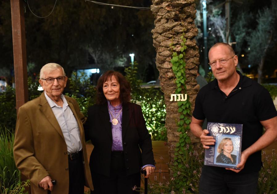 From left: The parents of bombing victim Anat Rosen-Winter, Zvi and Vehava Rosen, and Roni Douek