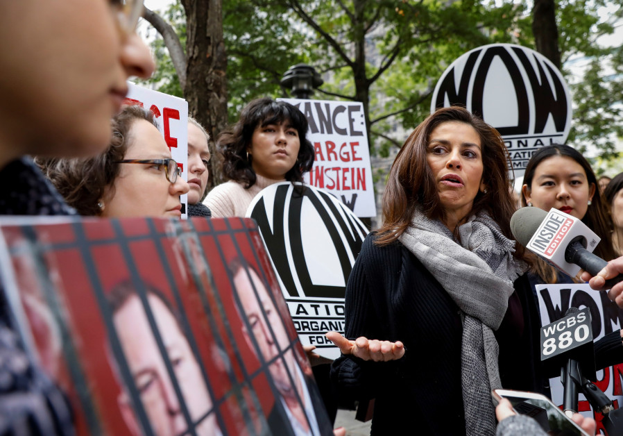 National Organization fo Women protest in New York, calling for prosecution of Harvey Weinstein