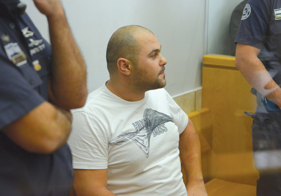 Alledged Israeli mobster Michael Mor is seen in the Nazareth Magistrate's Court last month.