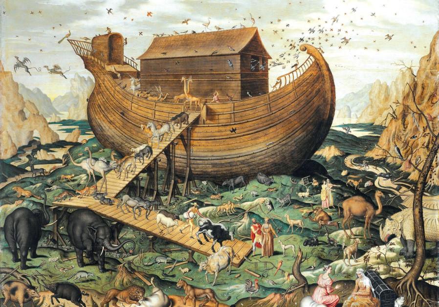 'NOAH'S ARK on Mount Ararat' (1570) by Flemish painter Simon de Myle.