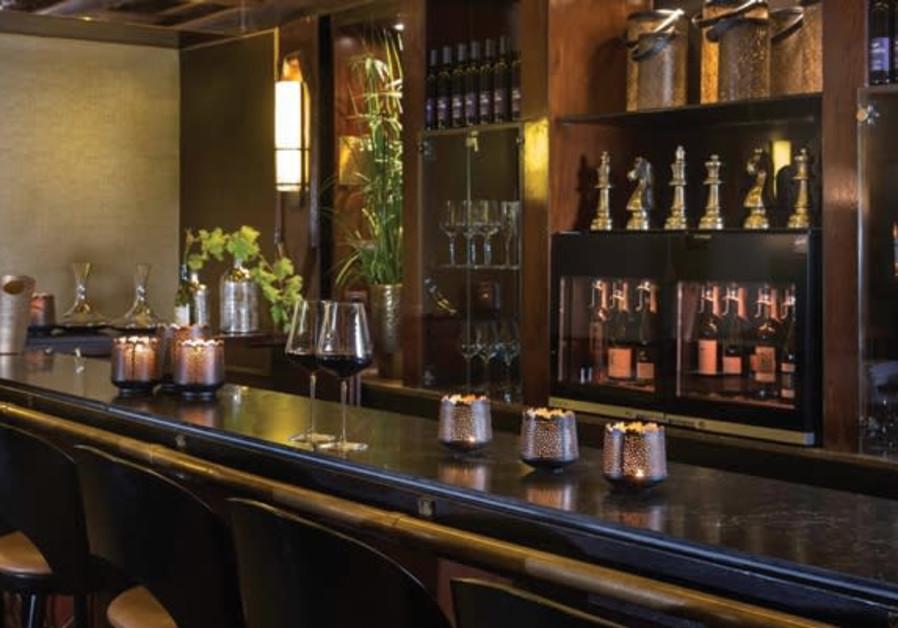 Herzliya's Dan Accadia Hotel's new wine bar.