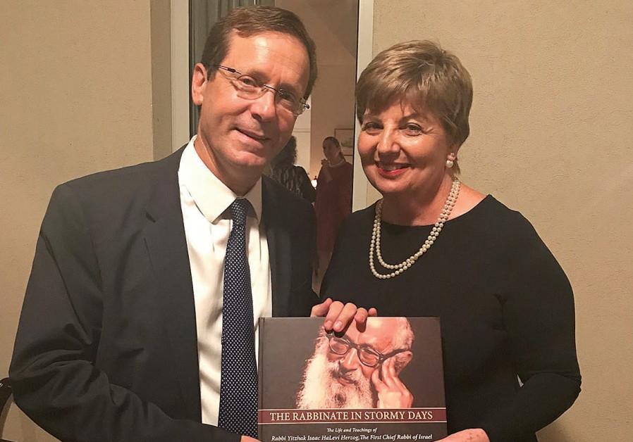 Opposition leader MK Isaac Herzog and Irish Ambassador Alison Kelley