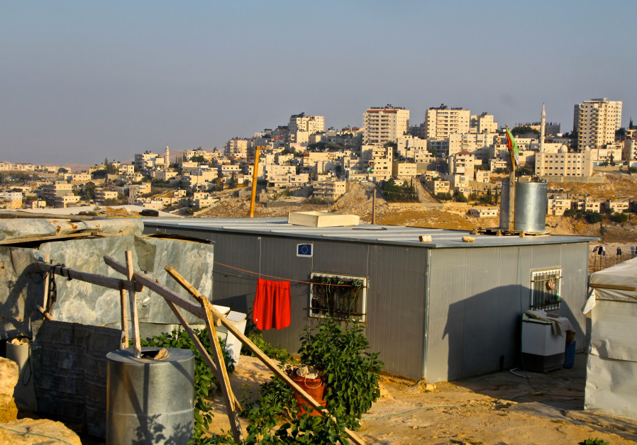 An EU-funded structure in the West Bank