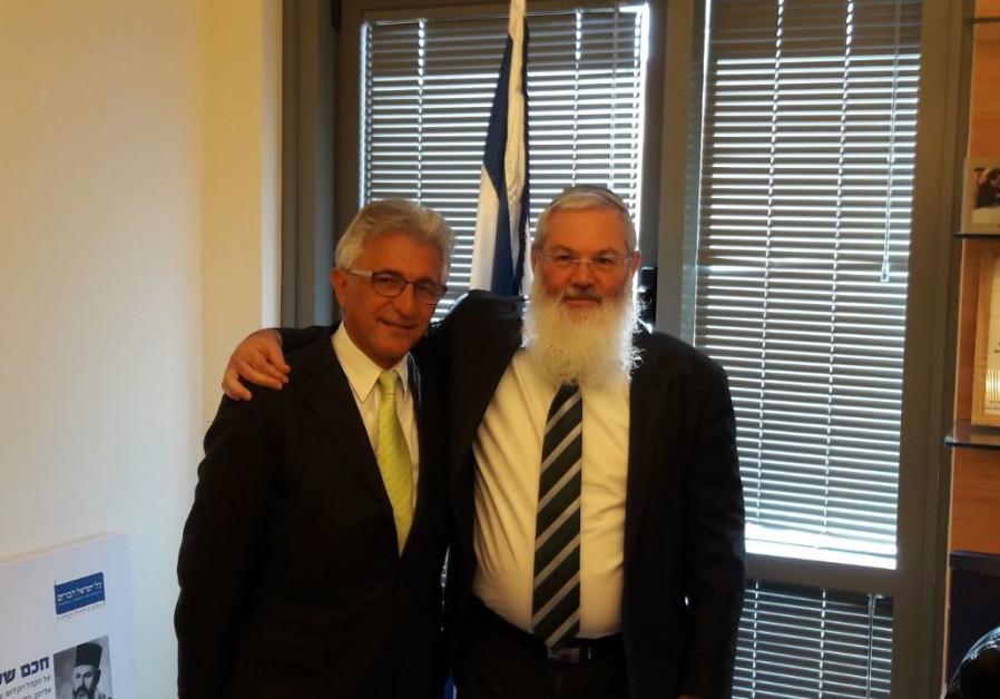 Deputy defense minister Eli Ben-Dahan meets with Sephardic community organizer in Toronto Max Benaim