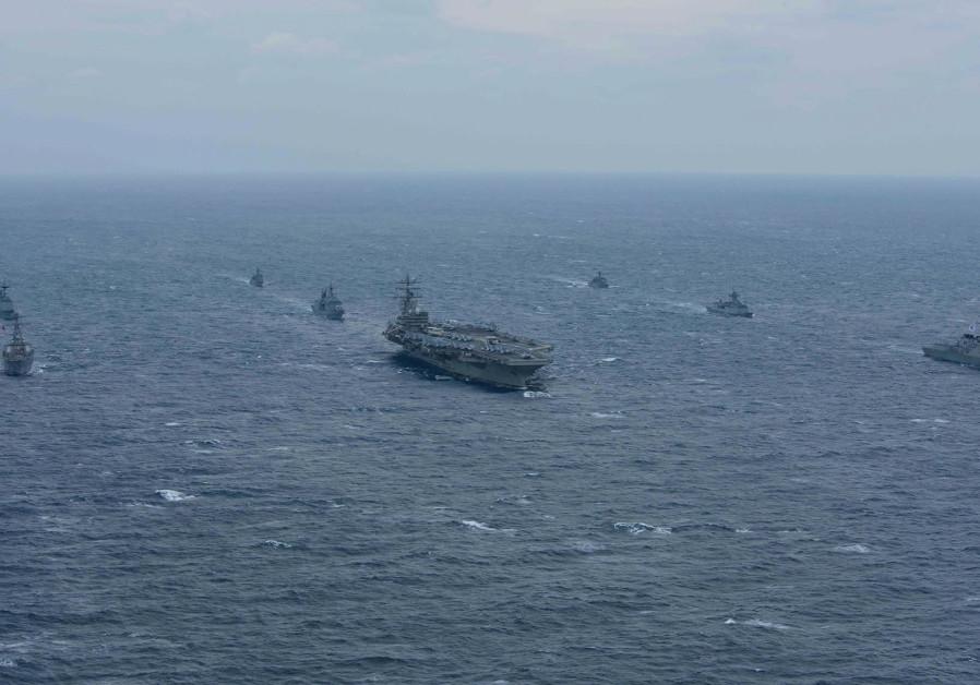U.S. destroyer docks in Beirut Port