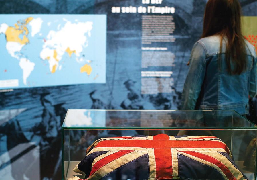 A BRITISH flag at an exhibit focusing on the First World War.