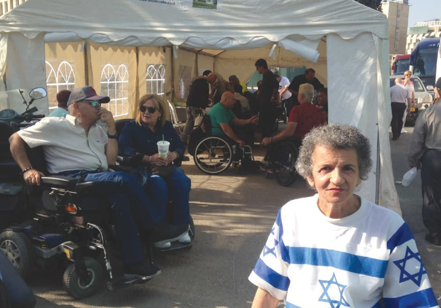 Pitching a tent for justice: disabled Israelis continue protests for livable wage