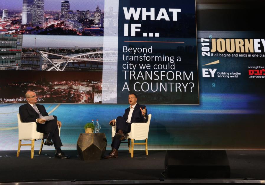 Ex-MK and venture capital investor Erel Margalit addressed entrepreneurs on Wednesday in Tel Aviv ab