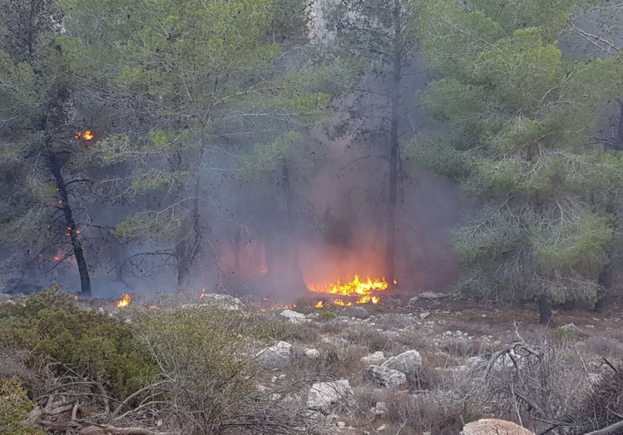 Fires in the Jerusalem HIlls (Photo: KKL-JNF)