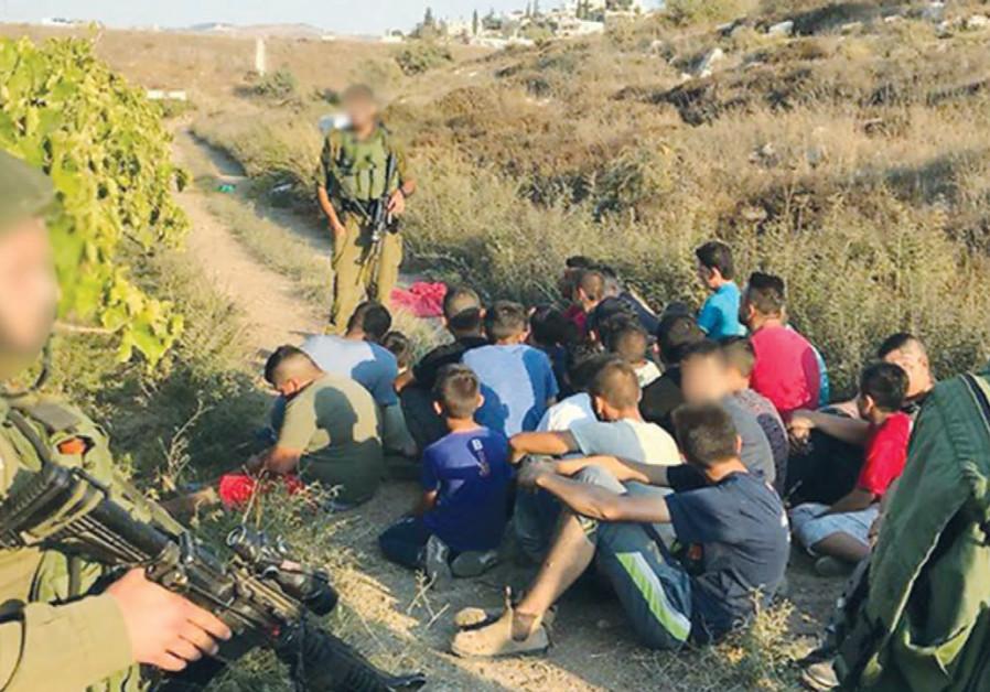Police arrest Palestinian trespassers on Moshav Shekef