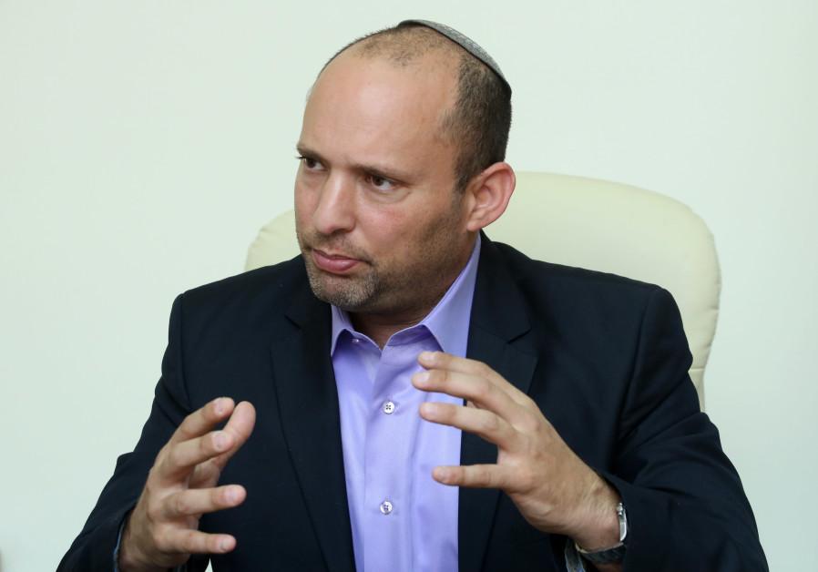 Education and Diaspora Affairs Minister Naftali Bennett