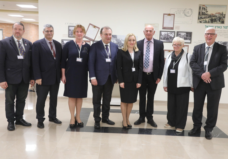 European Parliament Members visiting the Knesset, October 2017