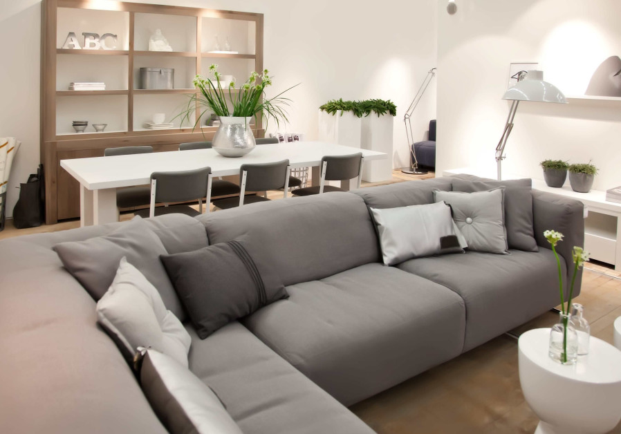 Consider placing the sofa set in the corner of the room to preserve space and emphasize the room's f