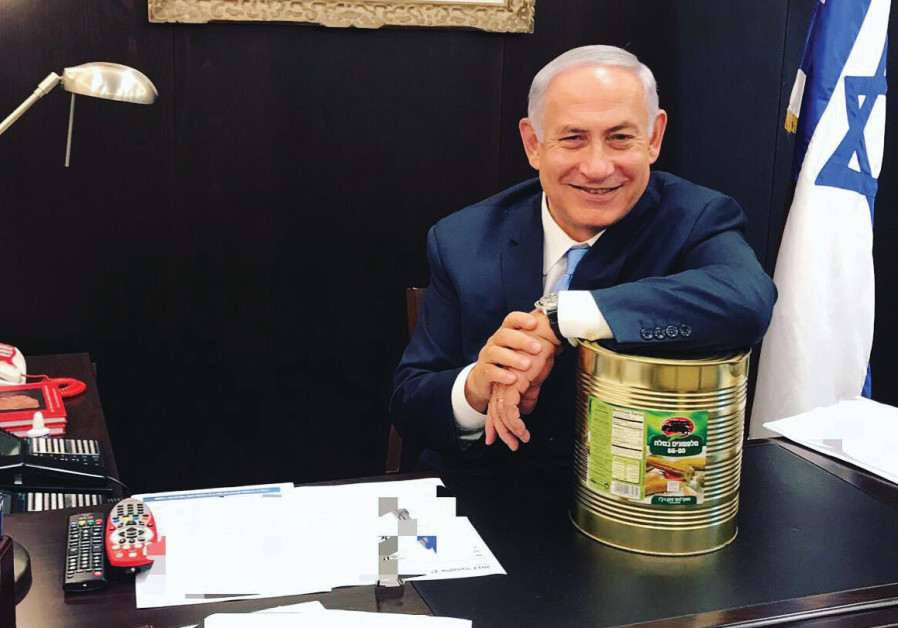 PRIME MINISTER Benjamin Netanyahu recently posted a Twitter photo of himself and an industrial-size