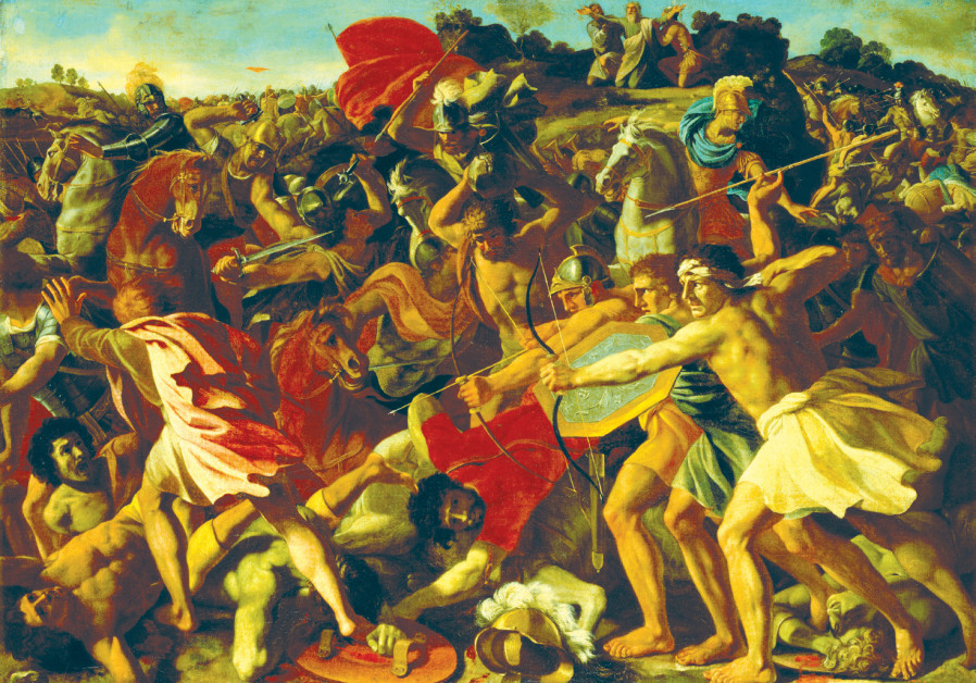 'THE VICTORY of Joshua over the Amalekites' (1624-25) by French painter Nicolas Poussin