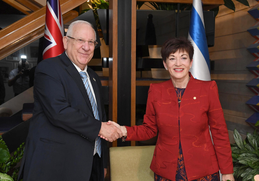 President Reuven Rivlin with governor-general of New Zealand, October 30, 2017.Dame Patsy Reddy