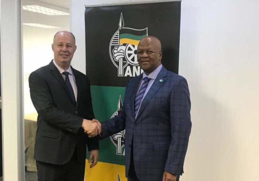 S. Africa's ruling party criticized over Hanegbi visit