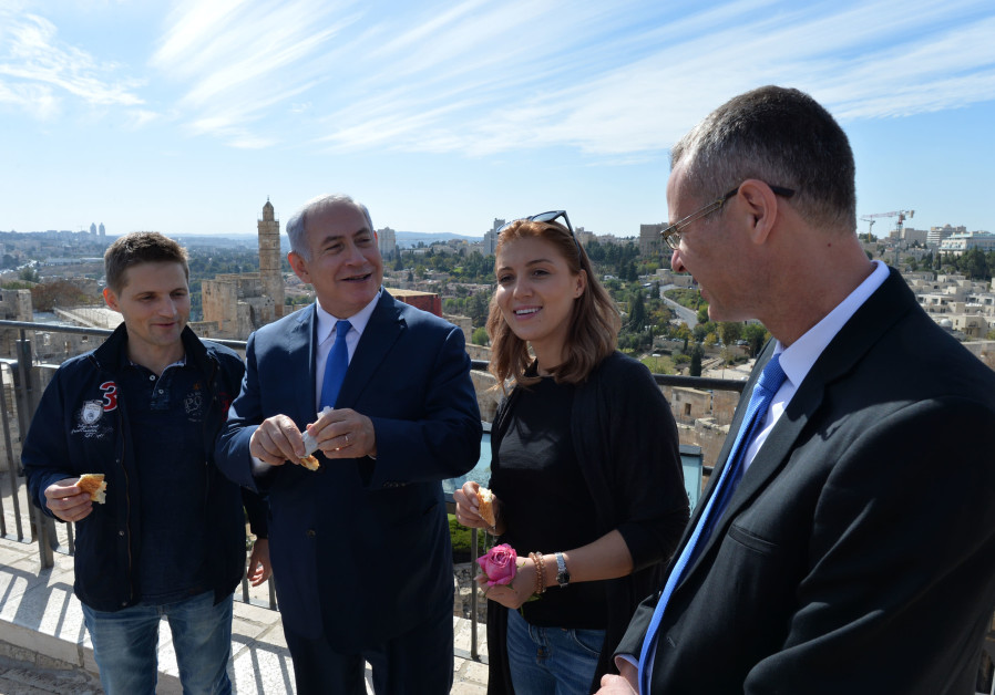 Prime Minister Benjamin Netanyahu with Tourist