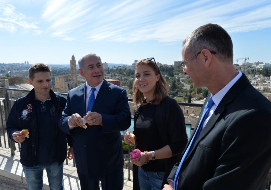 Prime Minister Benjamin Netanyahu with Tourist