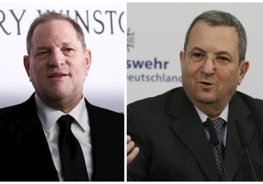 A compilation photo of Harvey Weinstein and Ehud Barak