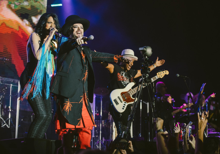 Boy George and the Culture Club perform an arena in Israel.