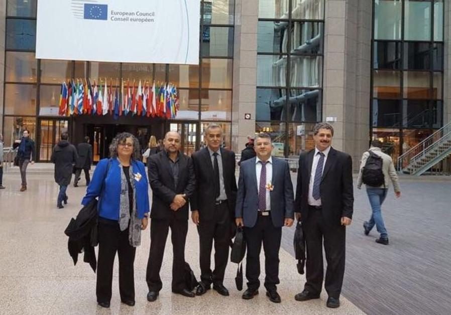 Israeli-Arab Knesset members at the EU.