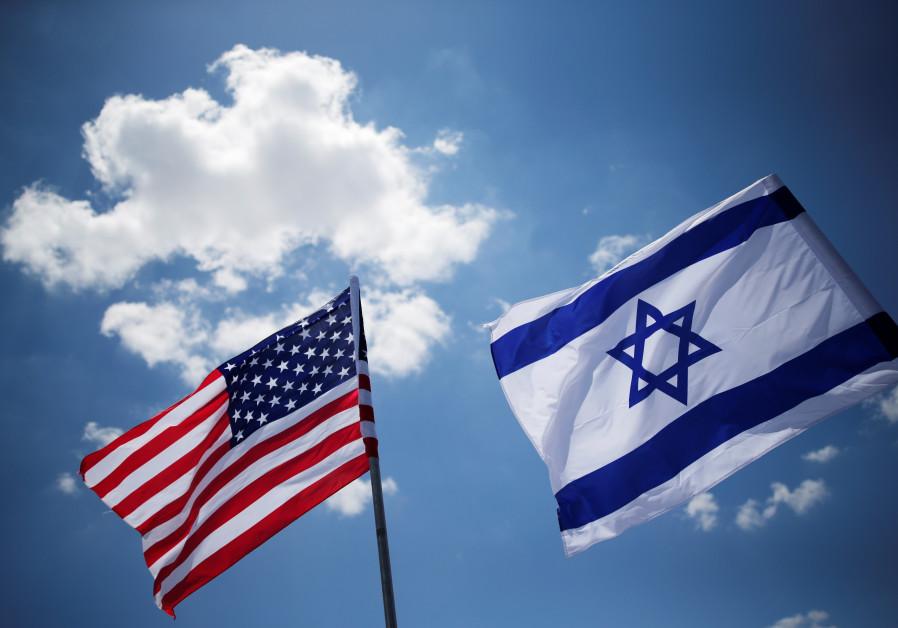American and Israeli flags