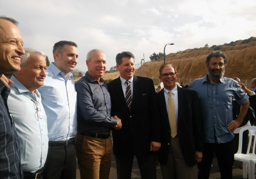 JNF-USA's Groundbreaking of a new neighborhood in Kibbutz Erez last March with Construction Minister