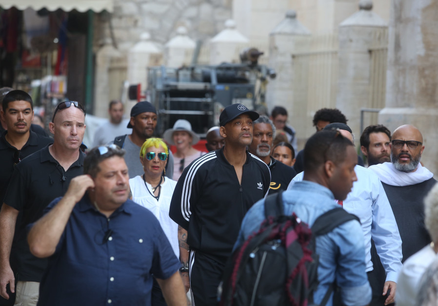 In Pictures: Will Smith spotted in the Holy Land