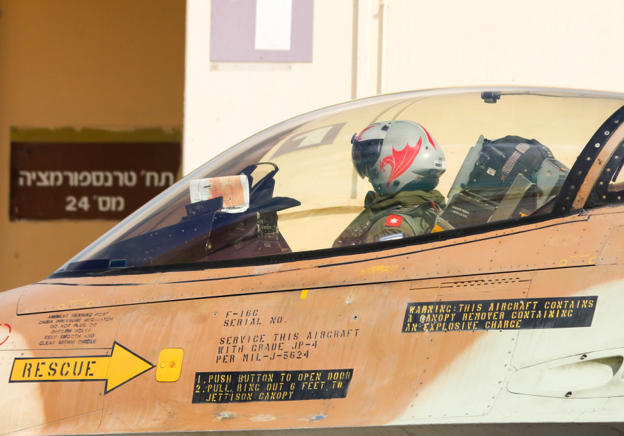 Pilot in Israel Air Force gets ready for take off