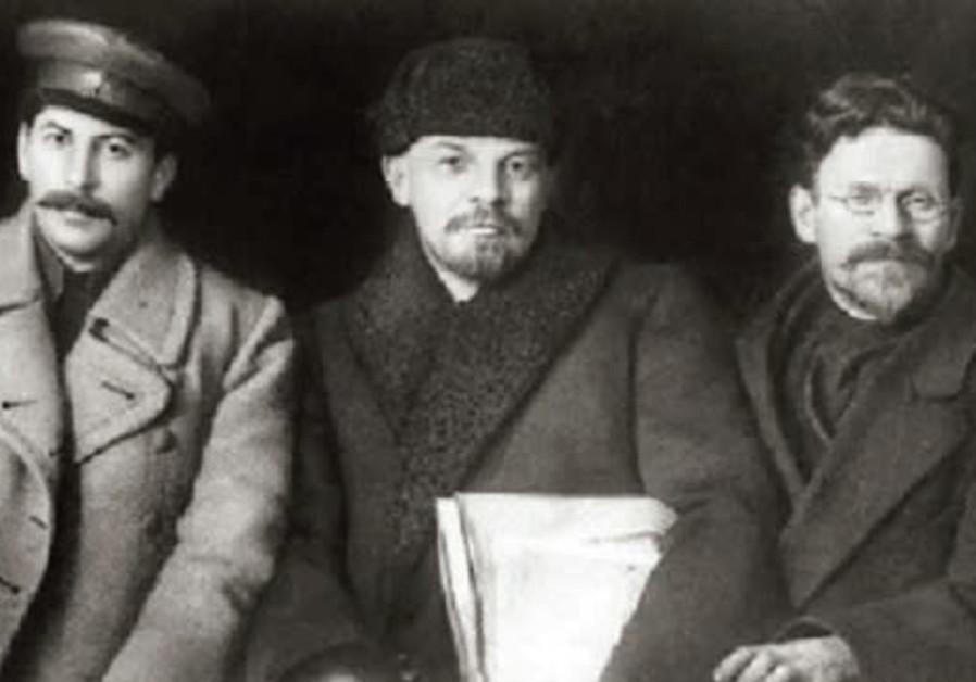 FROM LEFT, Joseph Stalin, Vladimir Lenin and Leon Trotsky.