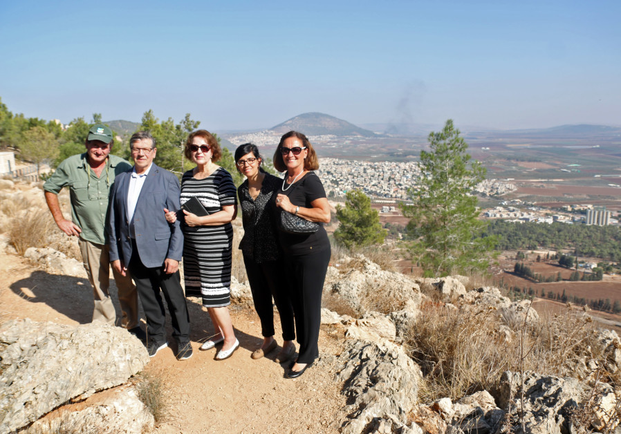 Finnish TV Channel Dedicates Tree Grove on Mount Tabor