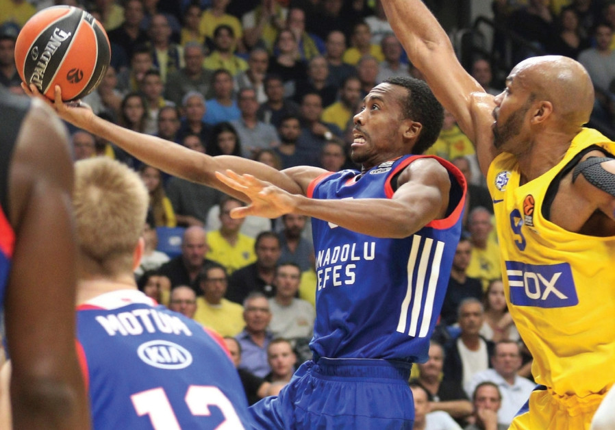 Efes Istanbul guard Errick McCollum was in unstoppable form at Yad Eliyahu Arena last night, scoring