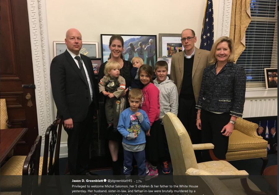 Israeli terror victims visit White House